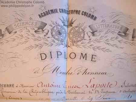 Academie Christophe Colomb Marc Papi these Philippe de Lyon www.philippedelyon.fr