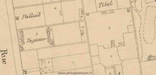 site maitre philippe Philippe de Lyon cadastre 1907 tapissier wwwphilippedelyonfr Le 35 rue Tete d'Or à Lyon