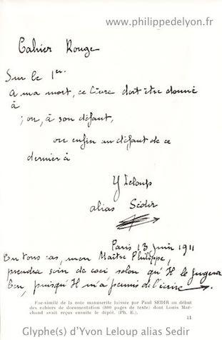 Glyphe(s) d'Yvon Leloup alias Sedir