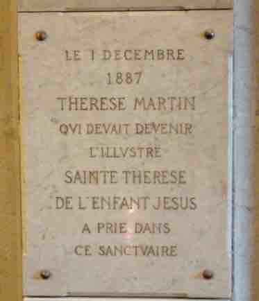 plaque Sainte Therese Fourvière Lyon www.philippedelyon.fr