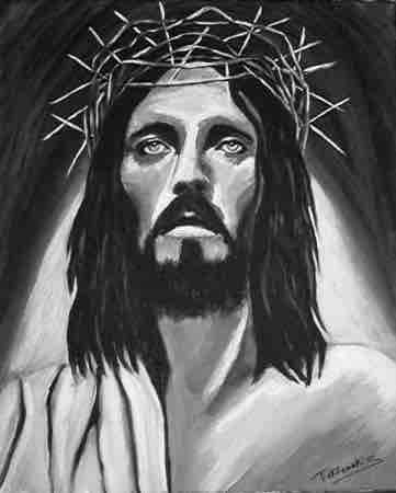 portrait jesus noir et blanc tekkamaki www.philippedelyon.fr