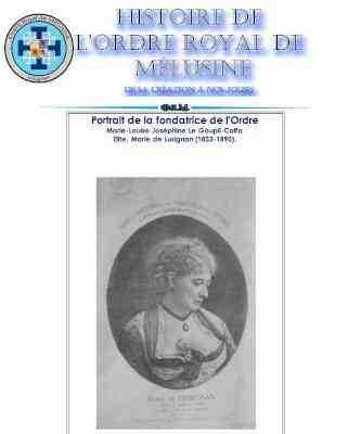 portrait Marie de Lesignan www.philippedelyon.fr la these du Dr Philippe Chevalier