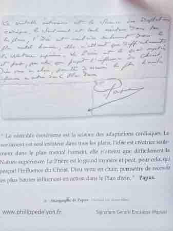 Papus signature Papus fleche fils du tonnerre