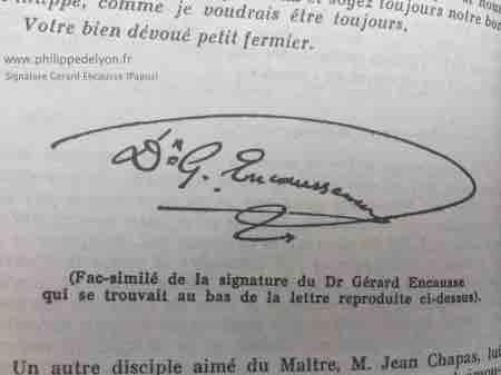 Papus signature fleche fils du tonnerre philippedelyon.fr