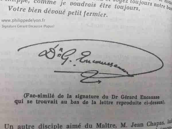 site Maitre Philippe Philippe de Lyon signature Papus fleche fils du tonnerre www.philippedelyon.fr