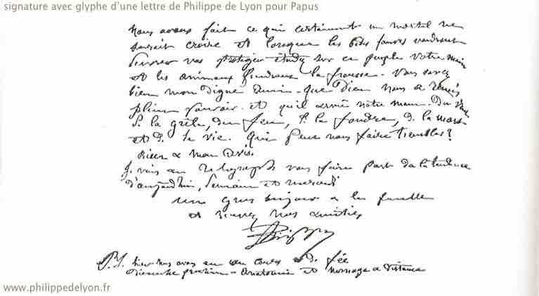 signature glyphe de Philippe de Lyon