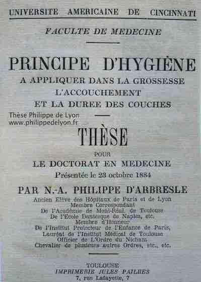 thèse de Philippe de Lyon site philippedelyon.fr