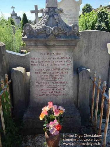 tombe Olga Chestakow Chestakoff cimetiere Loyasse philippedelyon.fr