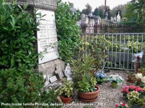 tombe famille maitre Philippe, de Lyon cimetière Loyasse Lyon