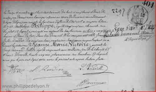 acte de naissance Jeanne Marie Victoire Philippe sur le site www.philippedelyon.fr https://www.philippedelyon.fr/wp-content/uploads/url-acte-naissance-Jeanne-Marie-Victoire-Philippe.jpg