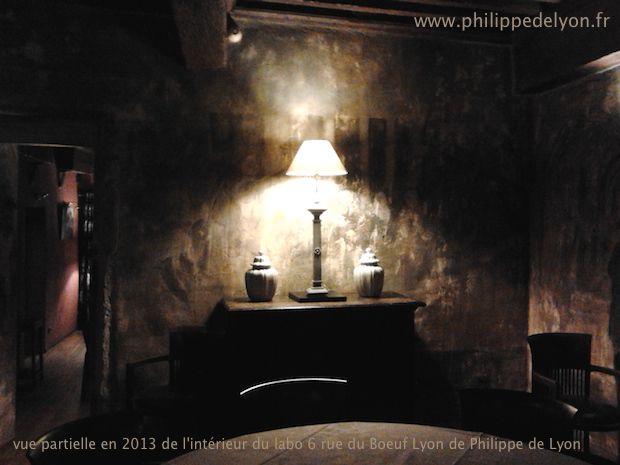 vue partielle en 2013 de l'intérieur du labo 6 rue du Boeuf Lyon de Philippe de Lyon 2013-10-11